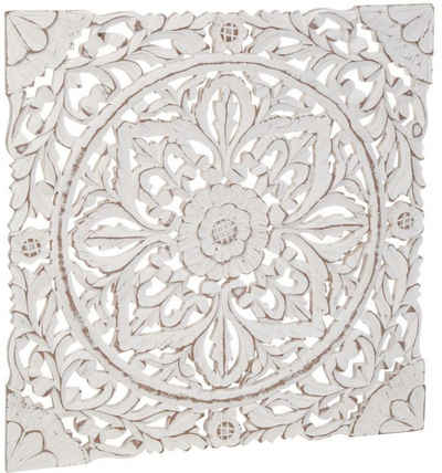 Schneider Wanddekoobjekt »Holz-Ornamentik«, Wanddeko, Ornament, weiß