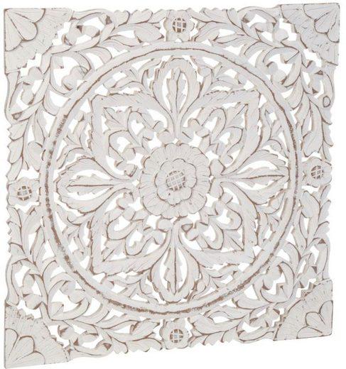 Schneider Wanddekoobjekt »Holz-Ornamentik«, Weiß