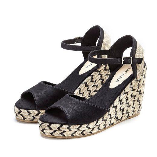 LASCANA Sandalette mit Keilabsatz im Ethno-Look
