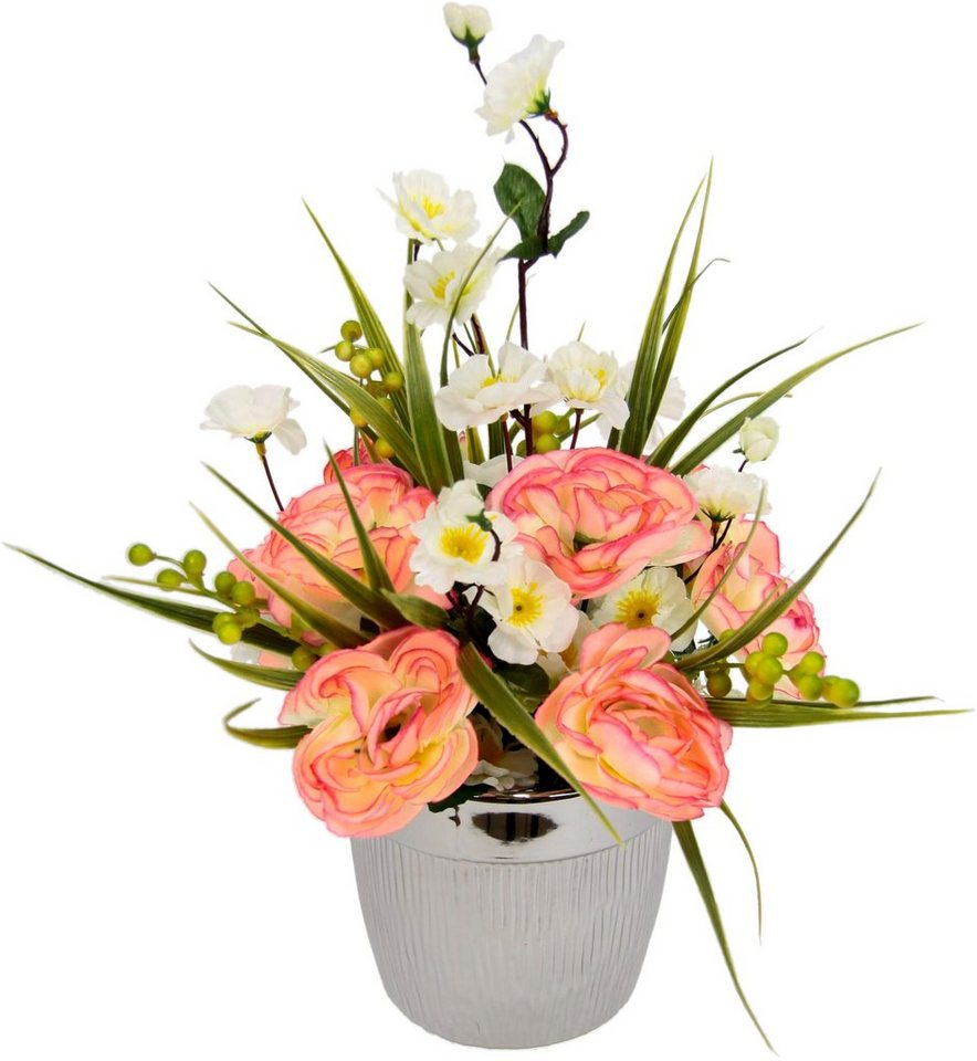 Berühmt Kunstblume Ranunkel-Blüten im Topf, Höhe 30 cm, | OTTO @FU_12
