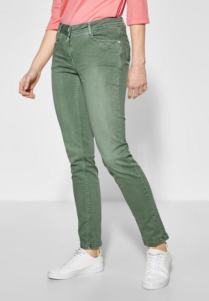 Cecil Slim-fit-Jeans mit Crash-Effekt