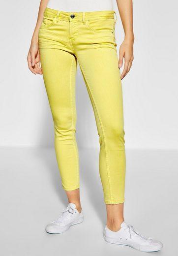 STREET ONE Slim-fit-Jeans softes Baumwoll Mischgewebe