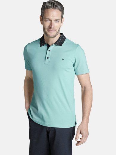 Charles Colby Poloshirt »MAXEN« mit gemustertem Kragen