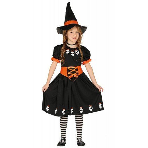 Mini Skull Witch Hexenkostüm für Kinder