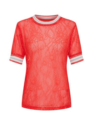 REVIEW Rundhalsshirt »SPORTY LACE TEE« Spitze
