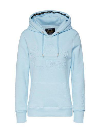 Superdry Sweater »V LOGO PASTEL DEBOSS ENTRY HOOD«