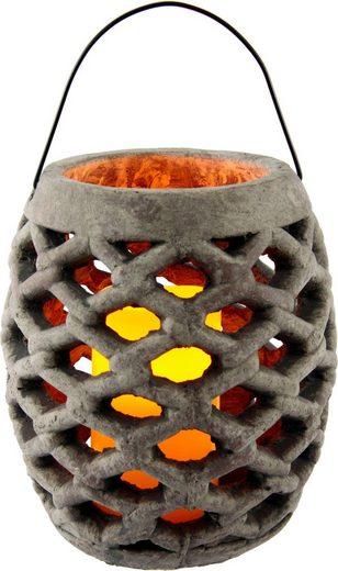 Home affaire Laterne »Keramik Windlicht mit LED«, Maße (H): 22 cm