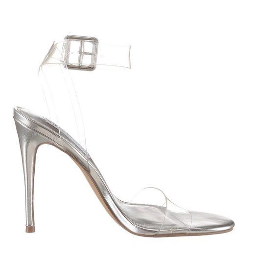 High Mit Madden Verstellbarer heel sandalette Schnalle Steve Transparent 1cTFKJl
