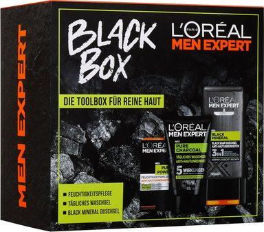 L'ORÉAL PARIS MEN EXPERT Уход -Geschenkbox »Black Box« Set, 3-tlg., Die Toolbox für reine Haut