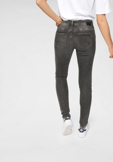 Mavi Skinny-fit-Jeans »ADRIANA« in besonderer Crinkle- & Crash-Optik