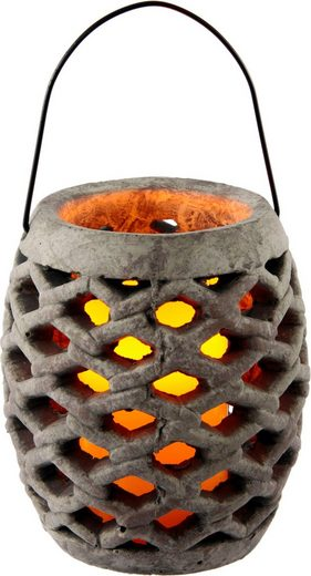 Home affaire Laterne »Keramik Windlicht mit LED«, Maße (H): 17 cm