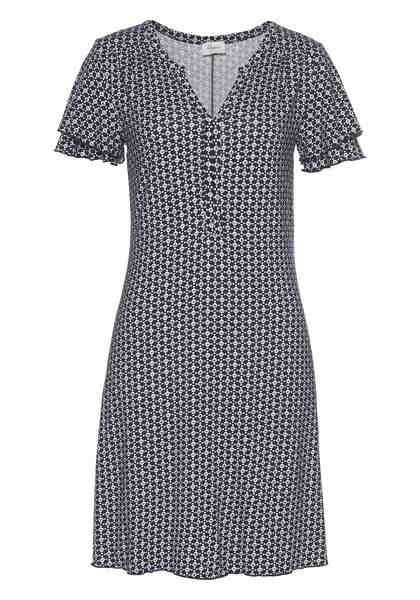 Boysen's Jerseykleid mit Serafinoausschnitt & kleinen Ärmelvolants