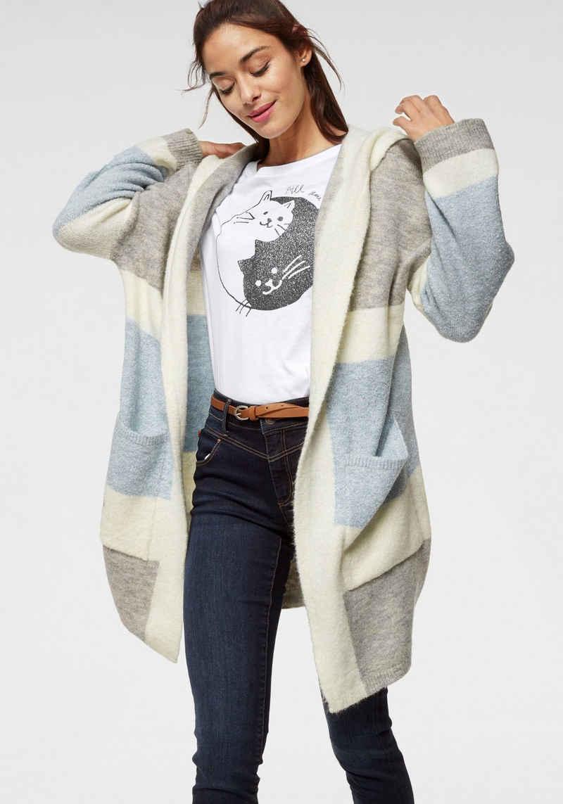 Mavi Cardigan im Streifen-Design mit Kapuze