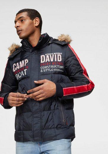 CAMP DAVID Steppjacke mit vielen Details