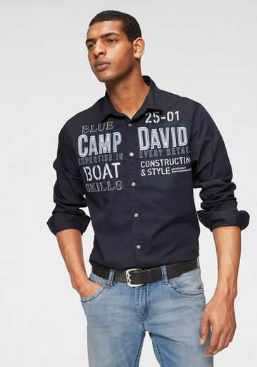 CAMP DAVID Hemd mit Applikationen und Prints