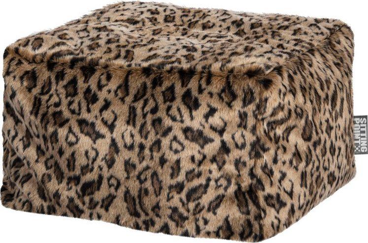 Sitting Point Sitzhocker »Loft SKINS«, Leopardenoptik / mit Innensack