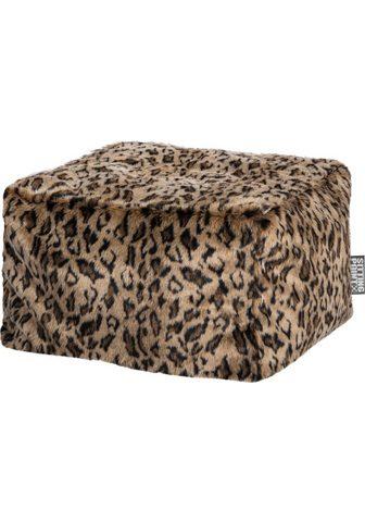 SITTING POINT Minkštas pufas »Loft SKINS« Leopardeno...