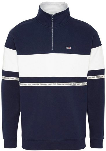 TOMMY JEANS Sweatshirt »TJM TAPE ZIP MOCK NECK«