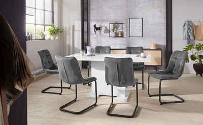 HELA Essgruppe »JENNY«, (Set, 5-tlg), bestehend aus einem ausziehbaren Tisch und 4 Stühlen