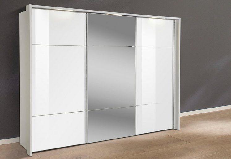 nolte® Möbel Schwebetürenschrank »Marcato 3« veredelt durch in der Front 3 waagerechte Sprossen aus verchromten Metall
