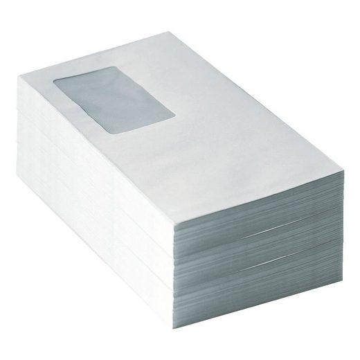 Briefumschläge DL mit Fenster und Selbstklebung - 500 Stück