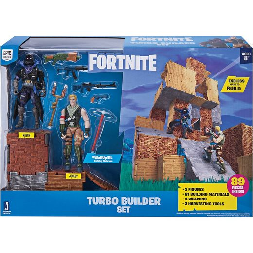 Jazwares FORTNITE - Turbo Builder Set mit Spielfiguren Jonesy und Rav