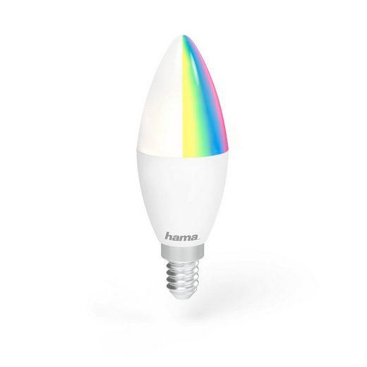 Hama WLAN LED Lampe, Kerze, Alexa/Google/App gesteuert, E14, RGB »4,5W, dimmbar, kein Hub nötig«