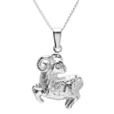 OSTSEE-SCHMUCK Kette mit Anhänger »Tierkreiszeichen Widder Silber 925/000«