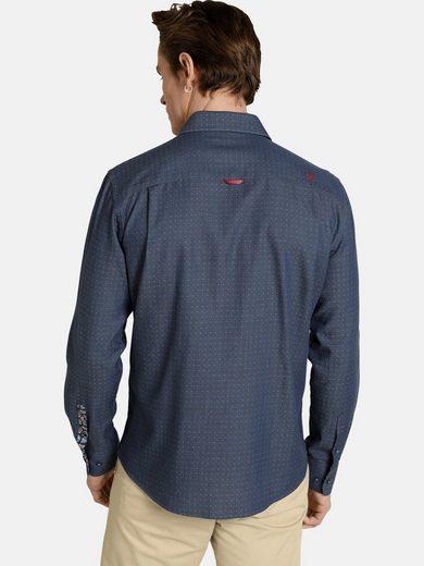 SHIRTMASTER Langarmhemd »hiddendots« Baumwollhemd in Jacquard-Design