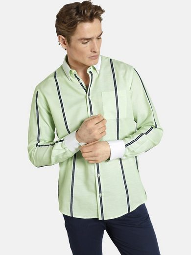 Schlussverkauf SHIRTMASTER Streifenhemd »greenmelon« eingewebter Strukturstreifen
