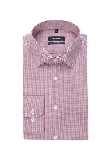 Kent Tailored Arm Businesshemd Langer kragen Seidensticker »tailored« Karo Extra ZBgEqYZw