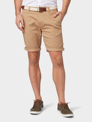 TOM TAILOR Bermudas »Travis Regular Chino mit Gürtel«