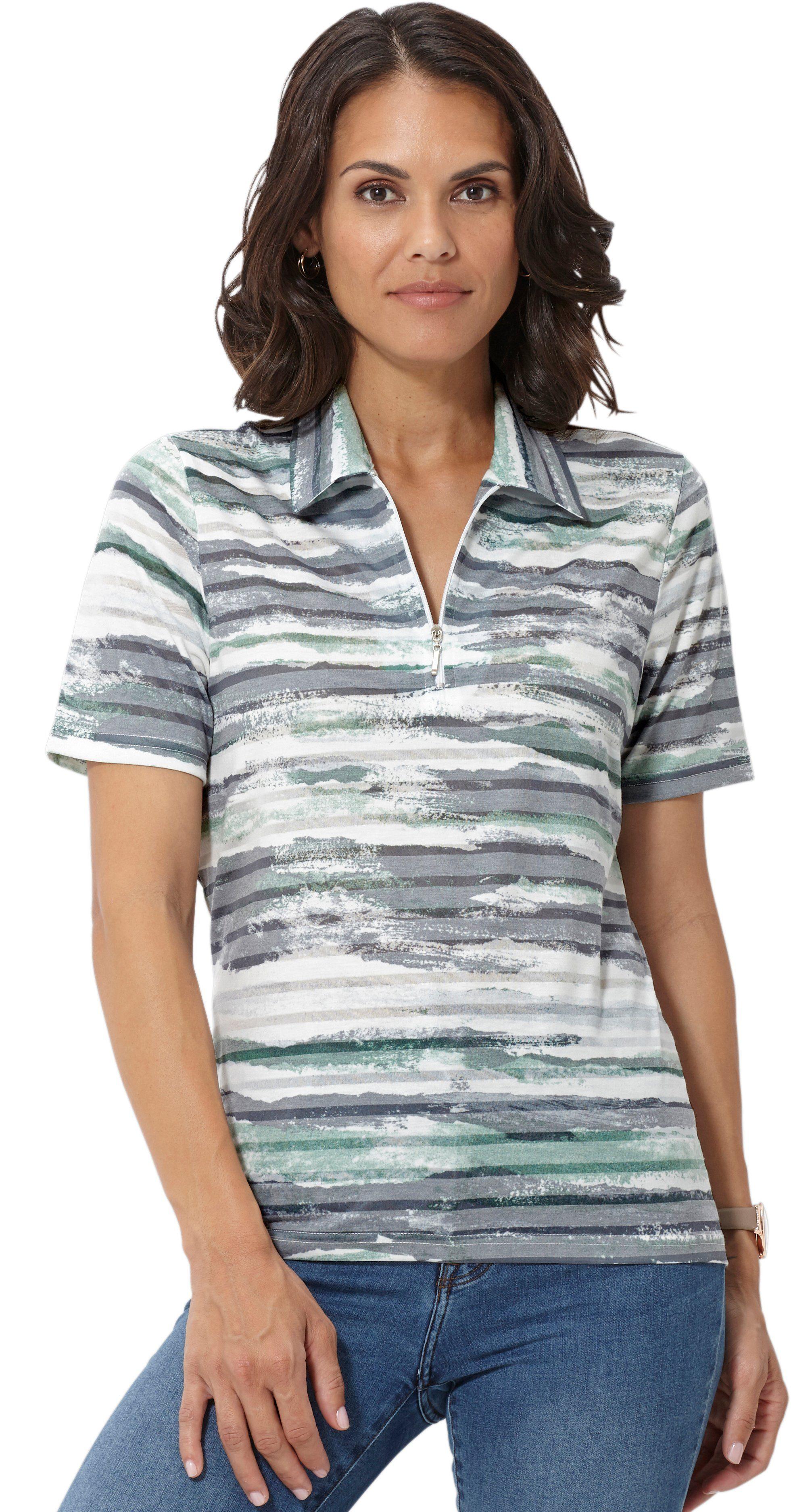 Casual Looks Shirt in feiner Ausbrenner-Qualität