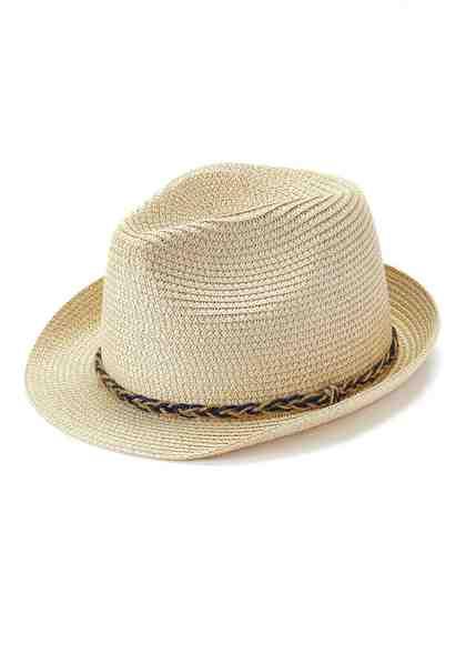 LASCANA Cowboyhut aus Bast mit geflochtener Borte