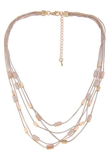 leslii Collier »Glassteine in Gold Beige, 210117020« mit Glassteinen