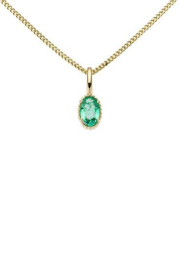 Firetti Kettenanhänger »Glanz, massiv«, mit Smaragd