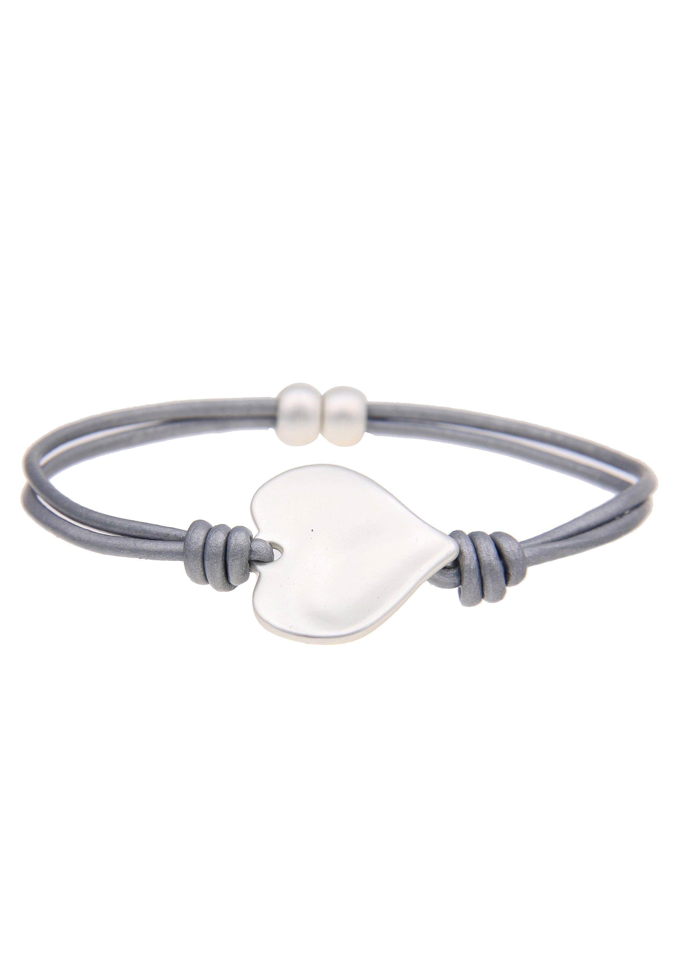 leslii Armband »Klassik Herz in Grau Silber, 260445636«