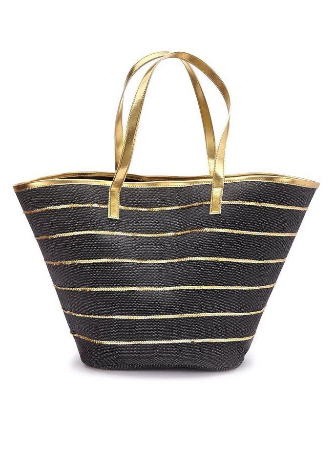 LASCANA XL-Strandtasche, im XL-Format | Taschen > Handtaschen > Strandtaschen | Schwarz | LASCANA