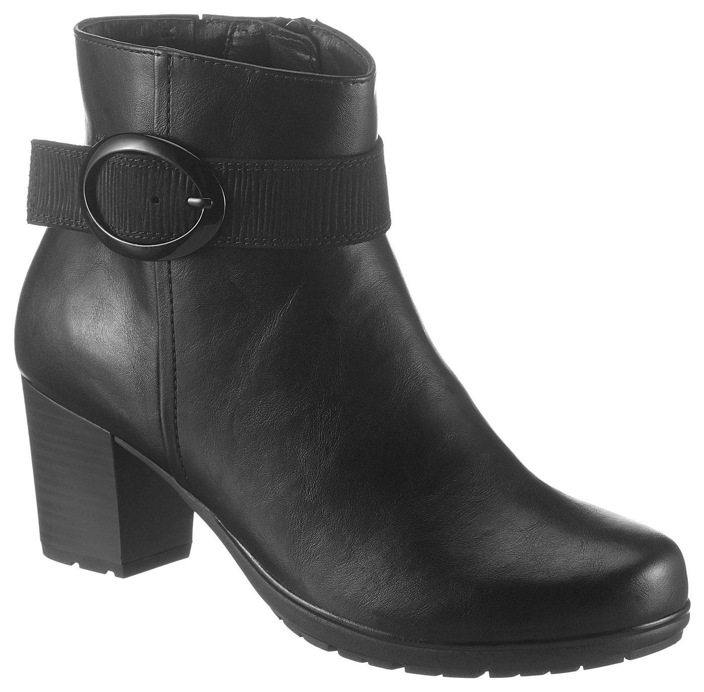 Damen Jana Stiefelette in komfortabler Schuhweite G schwarz  Damen Stiefeletten