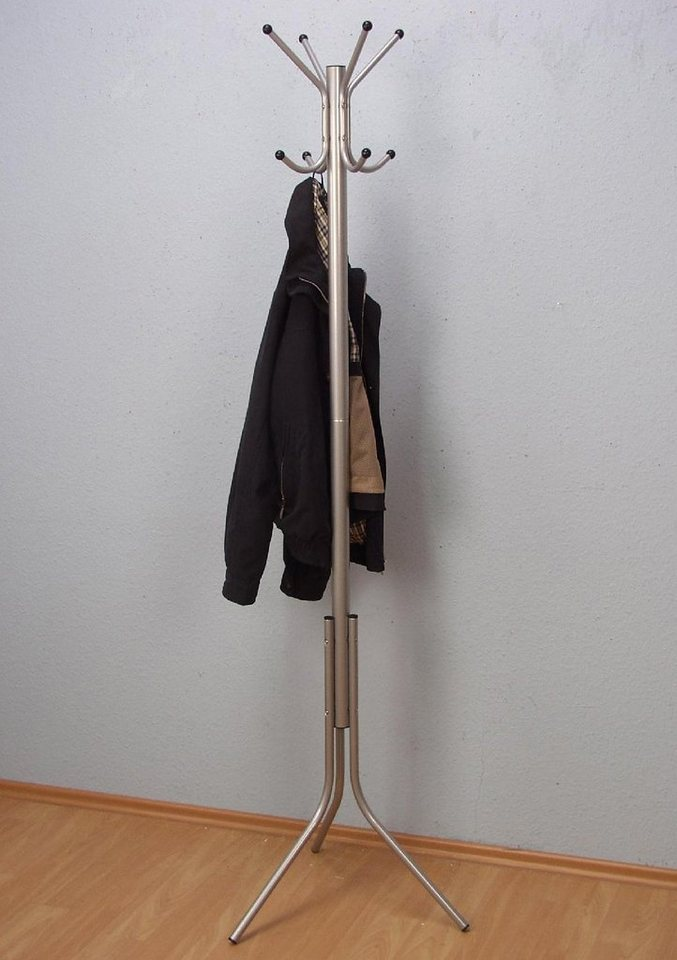 Kleiderständer in alufarben