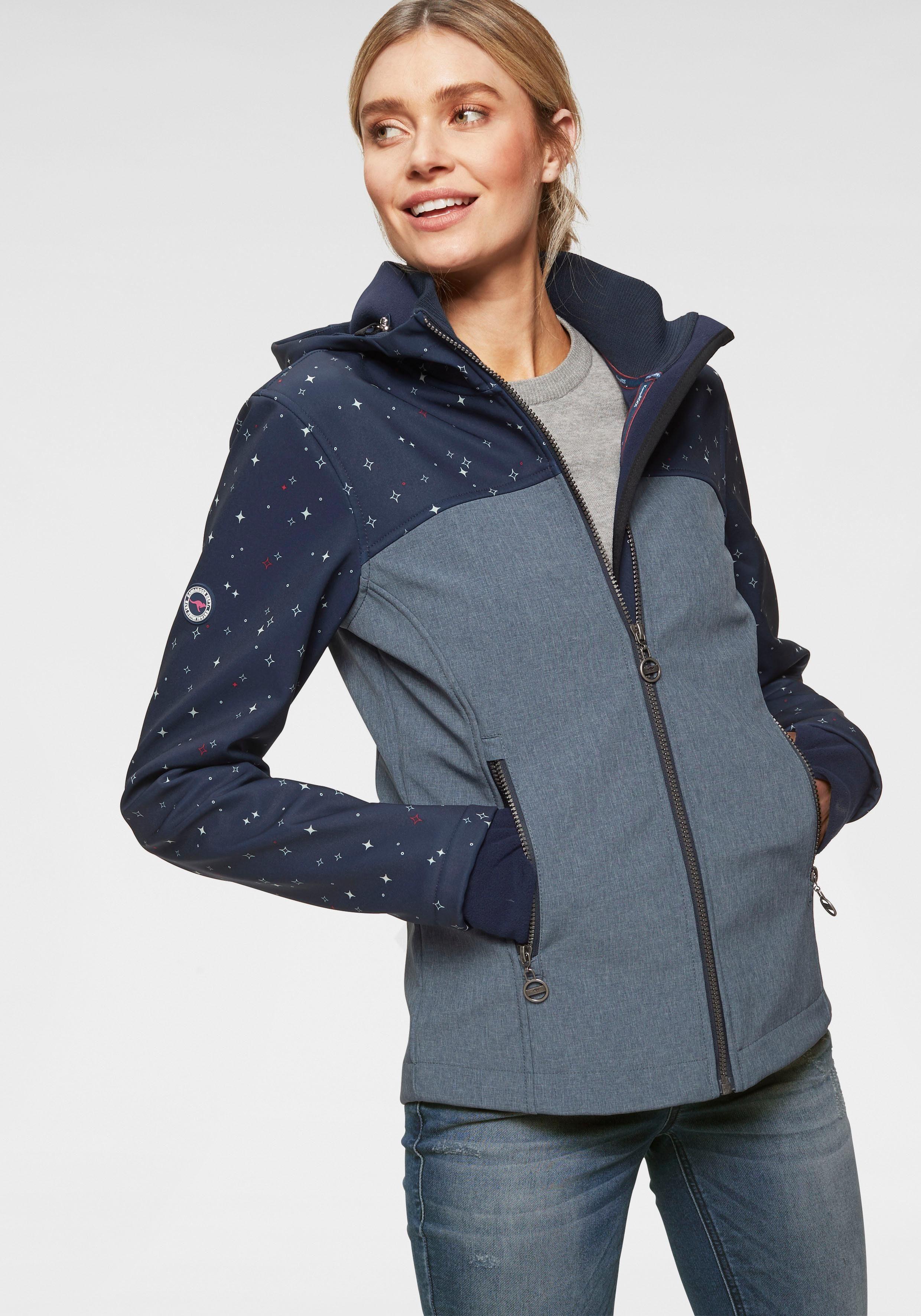 KangaROOS Softshelljacke im stylischen Kontrastdesign online kaufen | OTTO