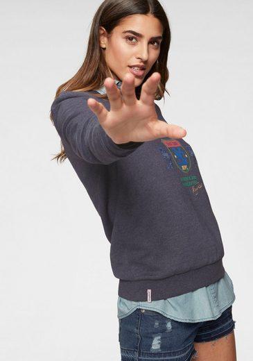 KangaROOS Sweatshirt mit sportlichem Druck