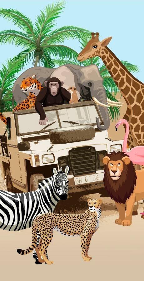 Strandtuch Jeep Jungle Good Morning Mit Dschungeltieren Online Kaufen Otto
