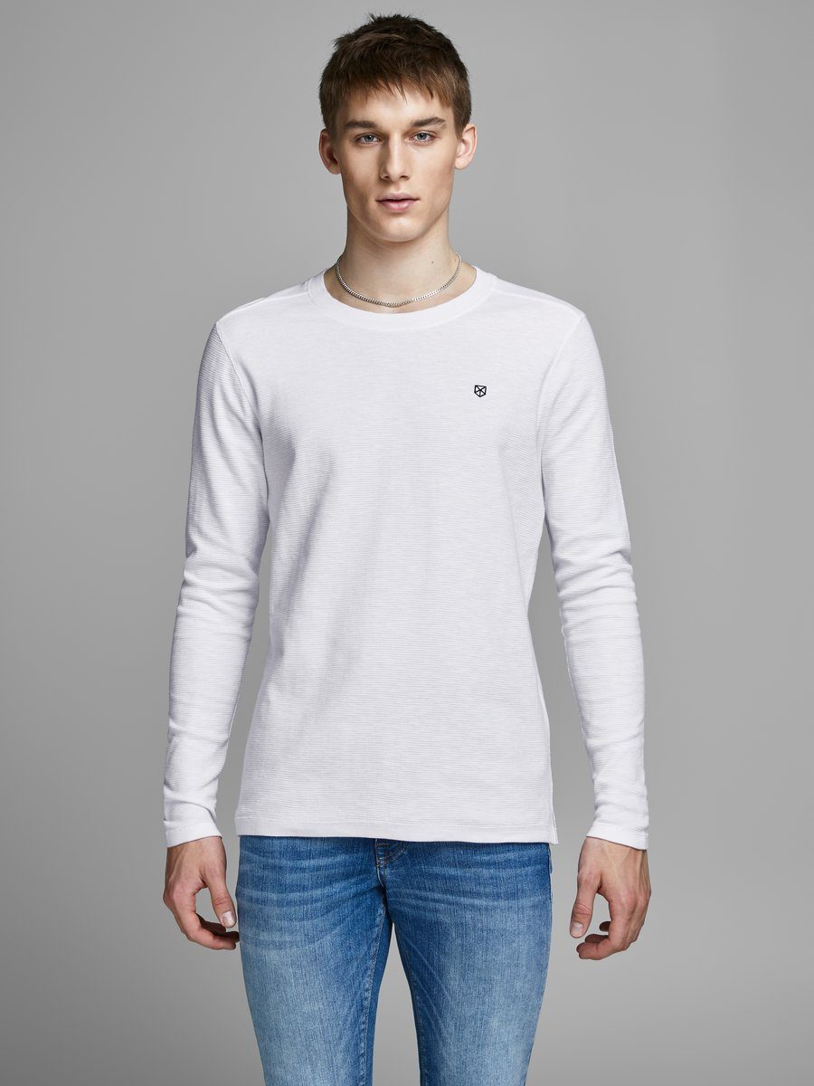 Jack & Jones Crew Neck T-Shirt mit langen Ärmeln