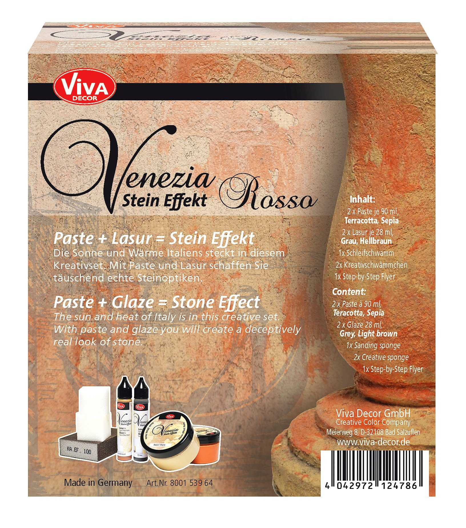 """Venezia Stein Effekt Set """"Rosso"""""""
