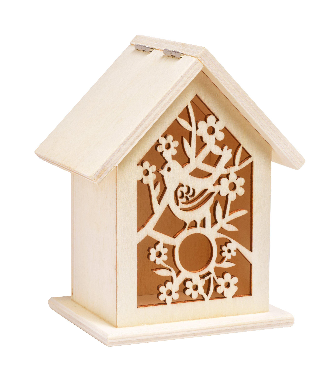 "VBS Vogelhaus-Box ""Ornament"" 13 cm hoch"