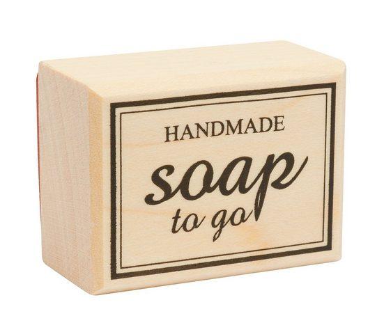 """Stempel """"Handmade -soap to go"""""""
