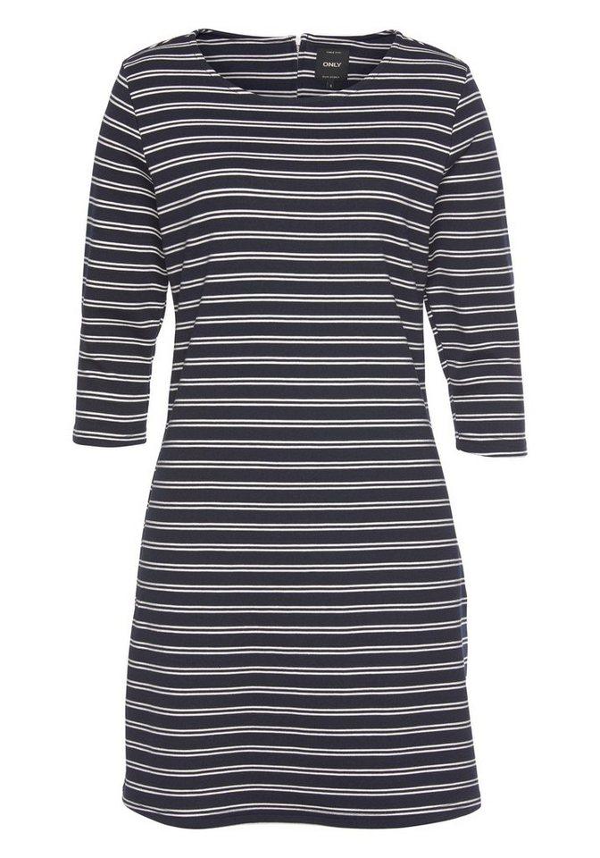 Only Shirtkleid »BRILLIANT« in maritimem Look mit Stretch | Bekleidung > Kleider > Shirtkleider | Blau | Only