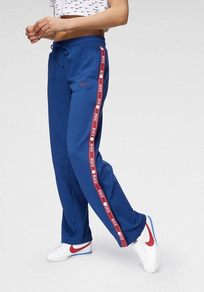best service exquisite design great fit Nike Sportswear Sporthose »WOMAN NIKE SPORTSWEAR PANT LOGO TAPE POPPER« Mit  Druckknöpfen an den Beinen online kaufen | OTTO
