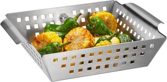 GEFU Grillschale »BBQ«, Edelstahl, (1-St), für Gemüse, Fisch, Rosmarinkartoffeln